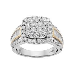 Lovemark Two Tone 10k Gold 2 Carat T.W. Diamond Engagement Ring
