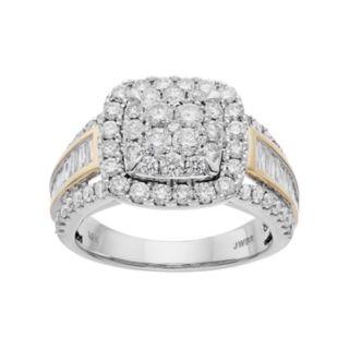 Lovemark Two Tone 10k Gold 2 Carat T.W. Diamond Engagement Ring
