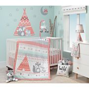 Lambs & Ivy 3 pc Little Spirit Fox, Teepee & Arrows Crib Bedding Set