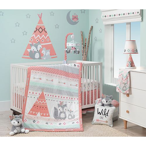 Lambs & Ivy 3-pc. Little Spirit Fox, Teepee & Arrows Crib Bedding Set