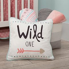 Lambs & Ivy 3 pc Little Spirit 'Wild One' Arrow Decorative Pillow