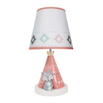Lambs & Ivy Little Spirit Teepee & Fox Lamp with Shade & Bulb