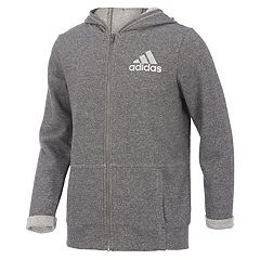 Girls 7-16 adidas Lurex Sparkle Zip-Up Hoodie