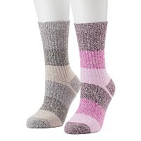 Women's Columbia 2-pk. Striped Crew Socks