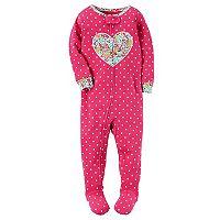 Toddler Girl Carter's Applique Floral Footed Pajamas
