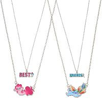 Girls 4-16 My Little Pony Pinkie Pie & Rainbow Dash Best Friends Charm Necklace Set