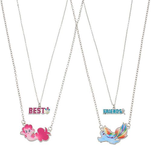 Girls 4 16 my little pony pinkie pie rainbow dash best friends girls 4 16 my little pony pinkie pie rainbow dash best friends charm necklace set aloadofball Gallery