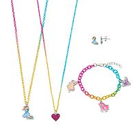 Girls 4-16 My Little Pony Rainbow Dash, Pinkie Pie, Fluttershy & Twilight Sparkle Necklace, Earrings & Bracelet Jewelry Set