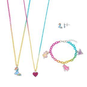 Girls 4-16 My Little Pony Rainbow Dash, Pinkie Pie, Fluttershy & Twilight Sparkle Necklace, Earrings & Bracelet Jewelry Set