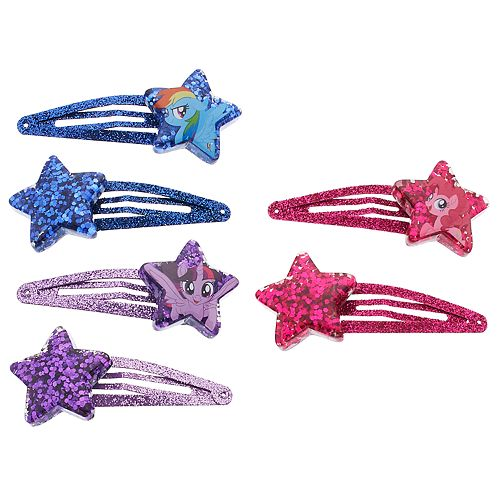 Girls 4-16 My Little Pony Rainbow Dash, Pinkie Pie & Twilight Sparkle Hair Clips