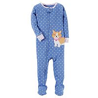 Toddler Girl Carter's Applique Footed Pajamas