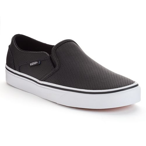 51eef481e4e Vans Asher Women s Perforated Slip-On Skate Shoes