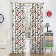 eclipse Blackout 1-Panel MyScene Forest Friends Window Curtain