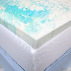 SensorPEDIC 2-inch Gel Swirl Mattress Topper