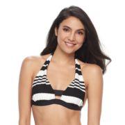 Women's Apt. 9® Striped Push-Up Halter Bikini Top