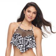 Women's Apt. 9® Flounce High Neck Bikini Top