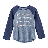 Toddler Girl Jumping Beans® Arrow Raglan Tee