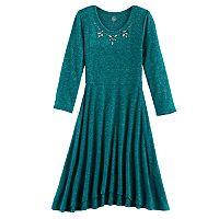 Girls 7-16 & Plus Size SO® Embellished Neck Cozy Dress