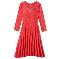 Girls 7-16 & Plus Size SO® Embellished Neck Cozy Dress