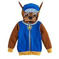Toddler Boy Paw Patrol Chase Mesh Mask Zip Hoodie