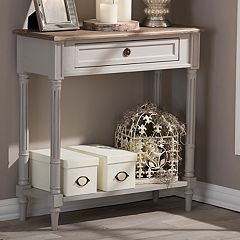 Baxton Studio Farmhouse Shabby Chic Console Table