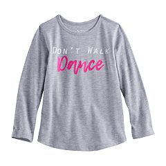 Toddler Girl Jumping Beans® 'Don't Walk Dance' Long Sleeve Graphic Tee
