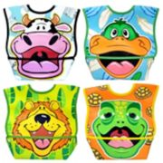 Dexbaby 4-pk. Big Mouth Animal Waterproof Dura-Bib Set