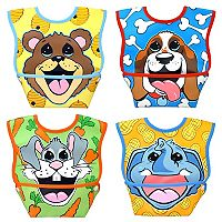 Dexbaby 4-pk. Big Mouth Animal Waterproof Small Dura-Bib Set