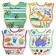 Dexbaby 4 pkBig Mouth Catch-All Waterproof Large Dura-Bib Set