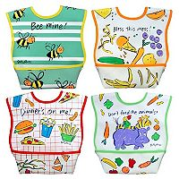 Dexbaby 4-pk. Big Mouth Catch-All Waterproof Large Dura-Bib Set