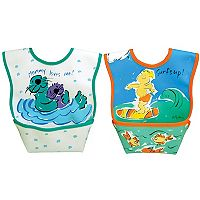 Dexbaby 2-pk. Otters & Surf Catch-All Waterproof Small Dura-Bib Set