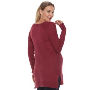 Maternity a:glow Ribbed Tunic Sweater