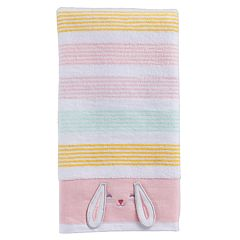 Celebrate Easter Together Bunny Stripe Hand Towel