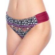 Mix and Match Ruched Print Bikini Bottoms