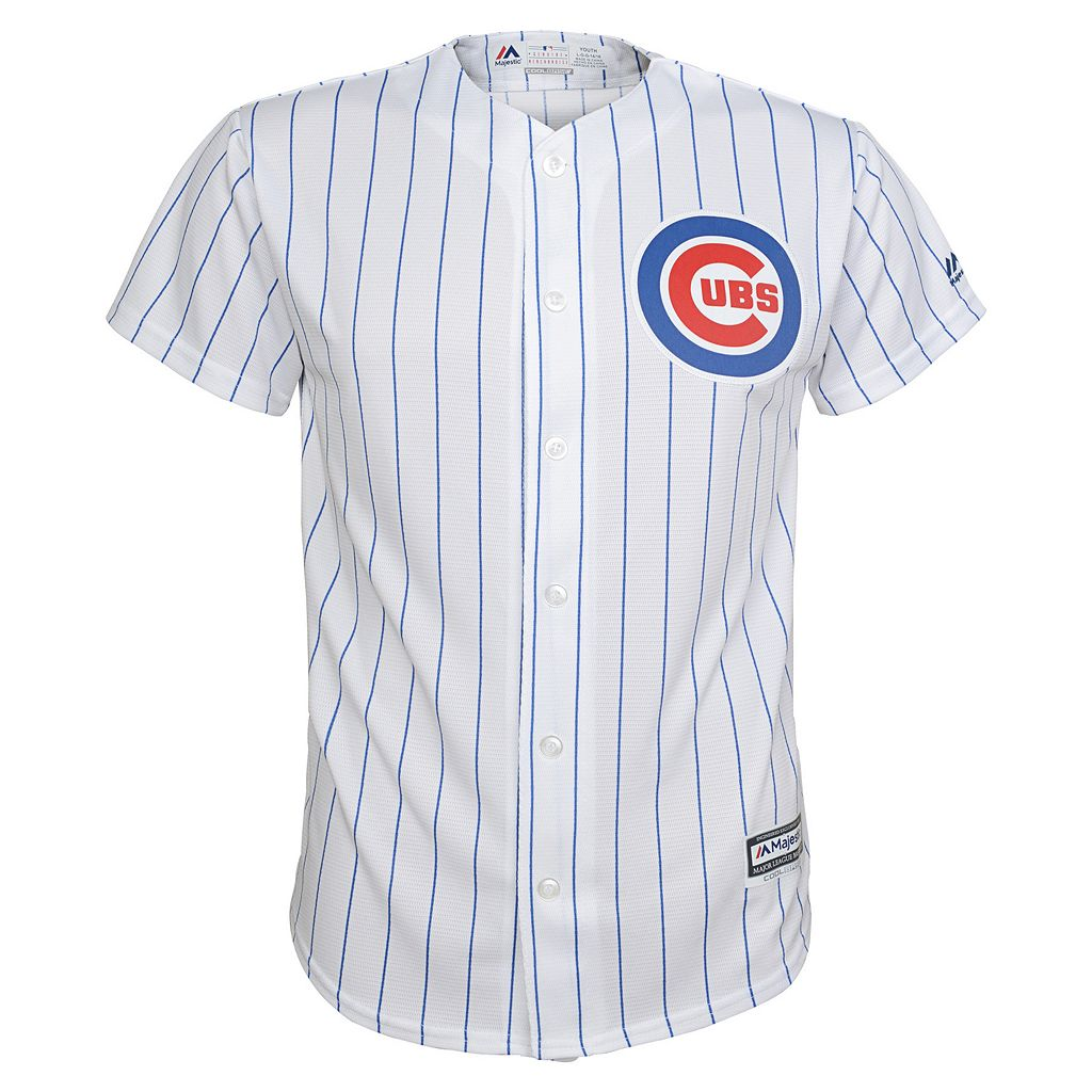 Boys 8-20 Majestic Chicago Cubs Anthony Rizzo Cool Base Home Replica Jersey