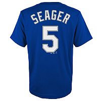 Boys 8-20 Majestic Los Angeles Dodgers Kyle Seager Namer & Number Tee
