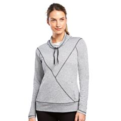 Women's Jockey Sport Fusion Terry Funnel Neck Top