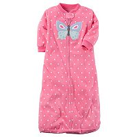 Baby Girl Carter's Animal Polka-Dot Fleece Sleep Bag
