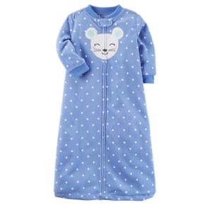 Baby Girl Carter's Animal Polka-Dot Fleece Sleep Bag