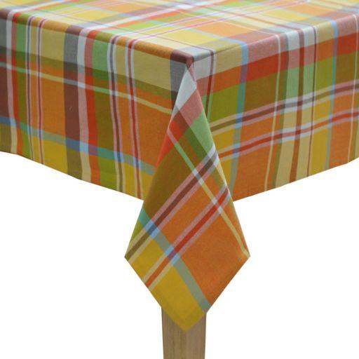 Celebrate Fall Together Plaid Tablecloth