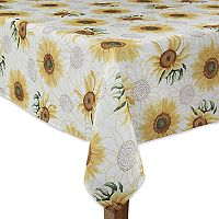 Celebrate Fall Together Sunflower Tablecloth