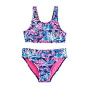 Girls 7-16 SO® Palm Print Bikini Top & Bottoms Swimsuit Set