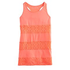 Girls 7-16 SO® Crotcheted Cover-Up Tank Top