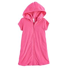 Girls 7-16 SO® Pink Terry Cover-Up Hoodie