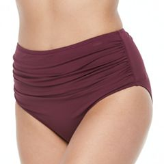 Women's Apt. 9® High Waist Ruched Bikini Bottoms