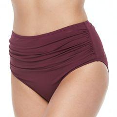 Women's Apt. 9® High Waist Ruched Bikini Bottoms
