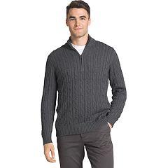 Big & Tall IZOD Cable-Knit Quarter-Zip Sweater