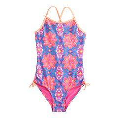 Girls 7-16 SO® Double Criss-Cross Back One-Piece Swimsuit