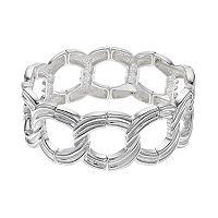 Grooved Link Stretch Bracelet