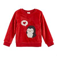 Toddler Girl Jumping Beans® Animal Applique Velboa Pullover